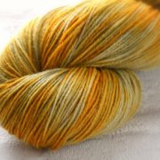 Silver Gilt Hand Dyed Opal Sock Yarn