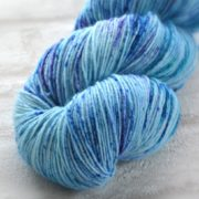 Speckled Periwinkle Hand Dyed Opal Sock Yarn