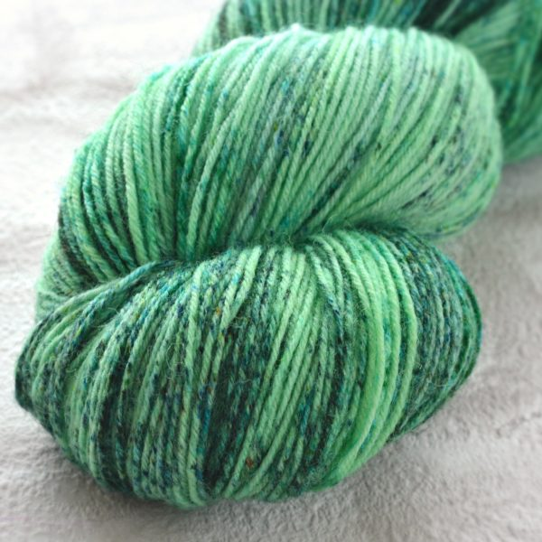 Speckled Seaglass Hand Dyed Opal Sock Yarn
