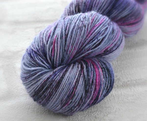 Violet Speckles Hand Dyed Opal Sock Yarn
