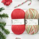 WYS Signature 4ply Cayenne Pepper shown with Candy Cane