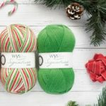 WYS Signature 4ply Chocolate Lime shown with Candy Cane